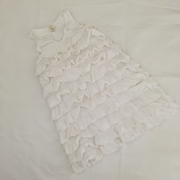 J. Crew Other - Crewcuts White Cotton Ruffle Dress